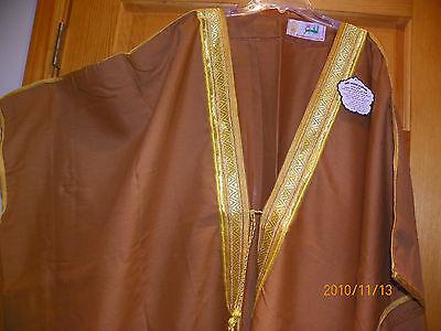 Men brown gold MASHLAH Christmas nativity church shepherd religious play gown  - Religious Christmas Plays
