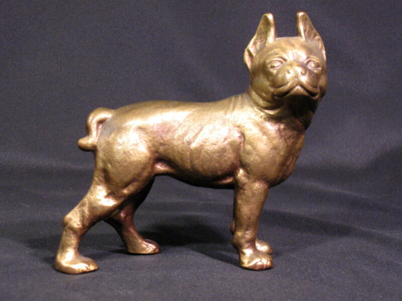 Vintage Brass Dog Bank