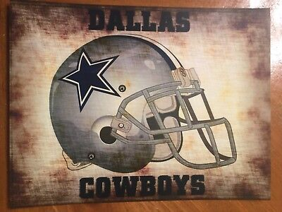 Tin Sign Vintage Dallas Cowboys NFL 3