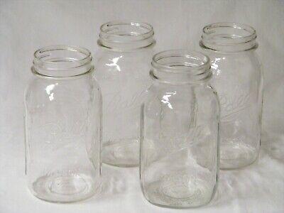 4 Vtg Glass Jars Ball Mason Golden Harvest Measuring Guide Clear Glass Heavy (Glasses Measurements Guide)