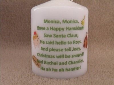 Unique FRIENDS TV SHOW Christmas Candle Gift - Phoebes Christmas Song Lyrics