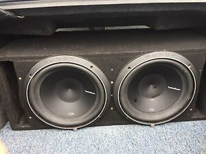 Rockford subs box and amp for sale