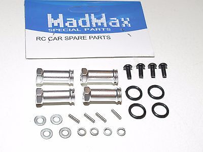 Yy Madmax Aluminum Wheel Hex Extensions For Traxxas Slash Silver