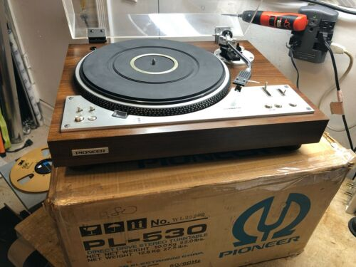 PIONEER PL-530 FULL AUTOMATIC DIRECT DRIVE TURNTABLE W/ ORIGINAL BOX