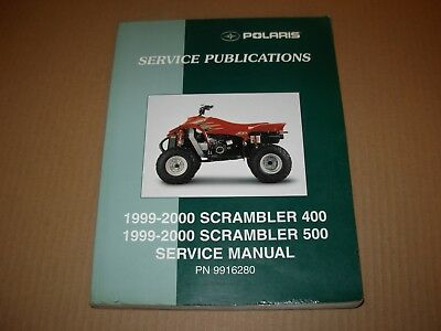 1999 - 2000 Polaris Scrambler 400 & 500 ATV Service Manual , # 9916280