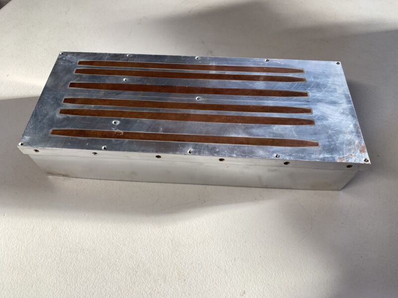 """12"""" x 5"""" x 2.5"""" Aluminum / Copper Heatsink Heat Sink for Projects or Amplifier"""
