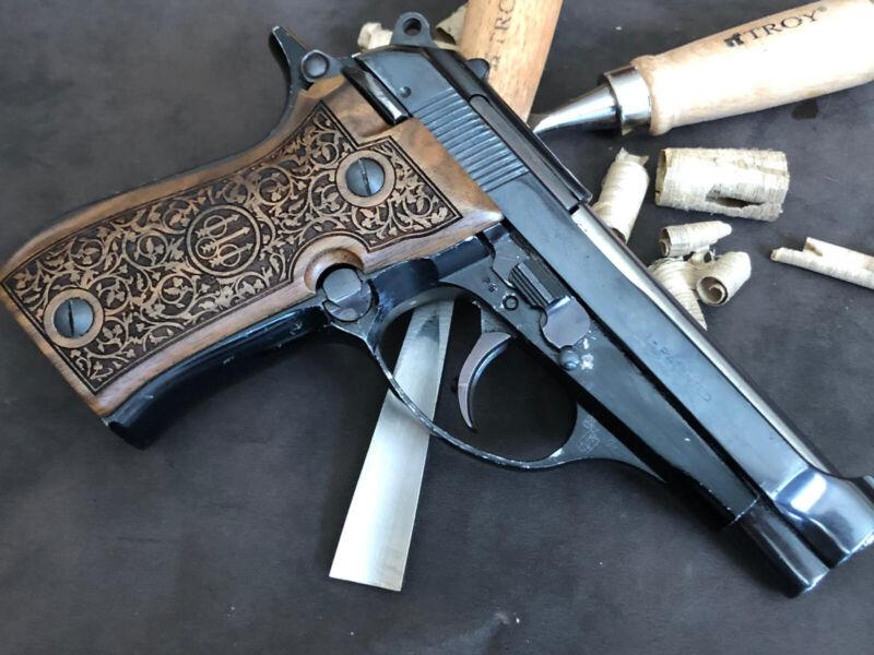 Beretta F81, 81BB, 81F, 81FS, F84 Walnut Grips Set Handmade - US Based Seller