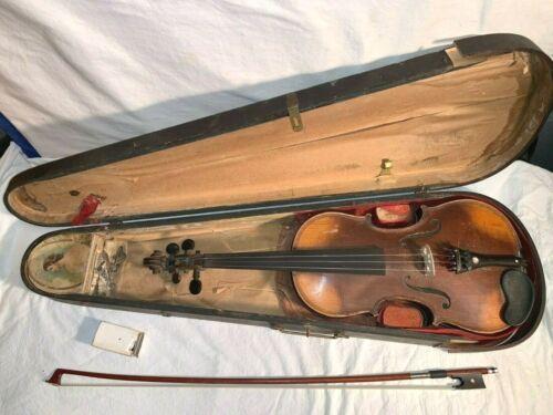 """Vintage Antique Giovan Paolo Maggini brescia 1663 4/4 Violin + 27"""" SIEGLER BOW"""