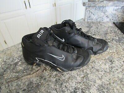Rare Nike Air Double Face 3/4 High Men Black Silver Sneakers Shoes Sz 9.5 -
