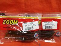 "ZOOM /""C/"" Tail Worm 20cnt #010-035 SMOKIN/' GREEN 2 PCKS"