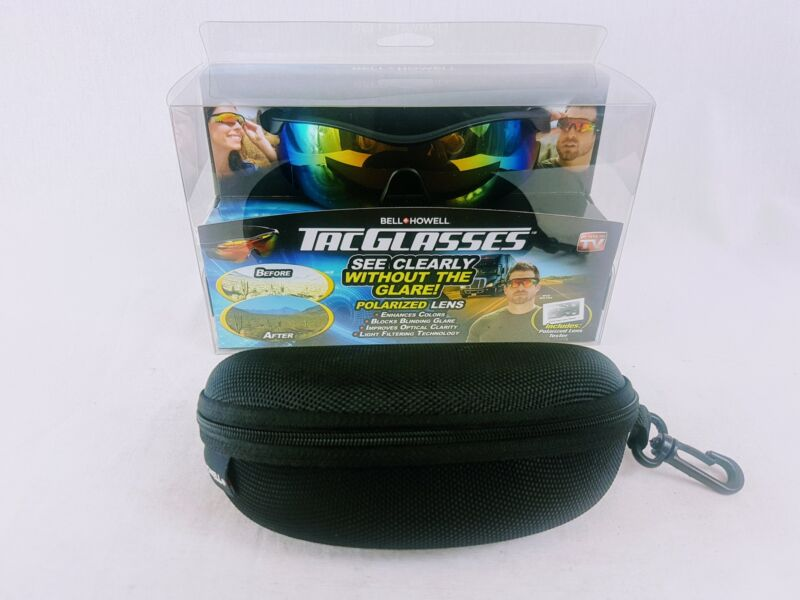 NEW Bell and Howell TAC Glasses Sunglasses Polarized With Case AS SEEN ON TV
