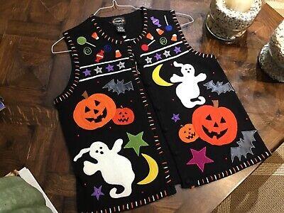 Original Pumpkins Halloween (Designer STUDIO Original Halloween Vest Ghosts Pumpkins Candy)