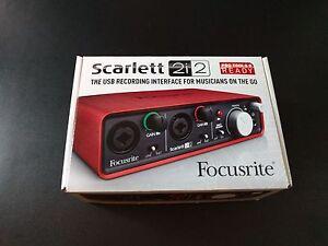 Focusrite Scarlett 2i2 USB Audio Interface + 2 x 1m XLR Cables Port Melbourne Port Phillip Preview