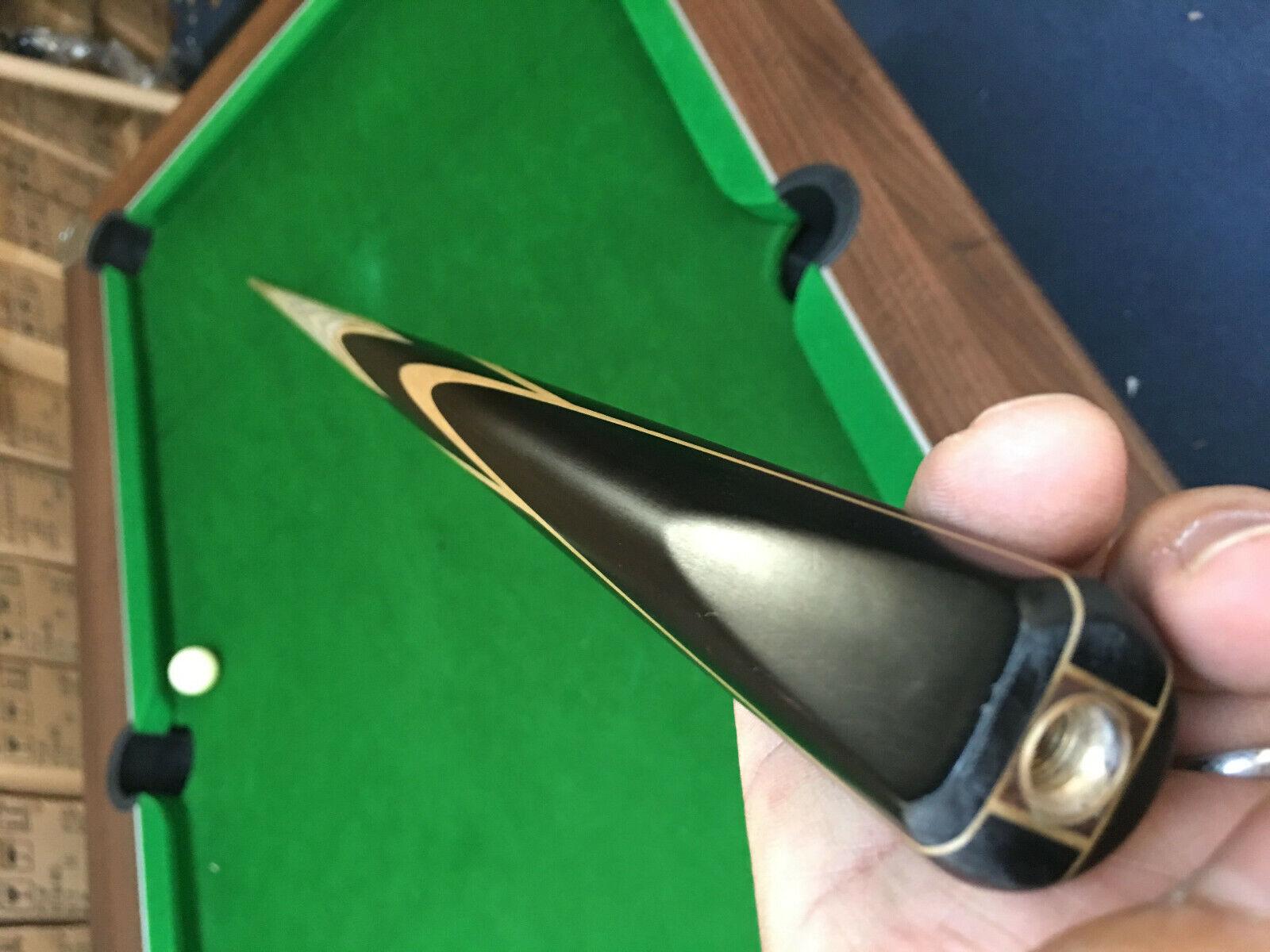 1 pc Ash Shaft Black Ebony Handmade Snooker Cue