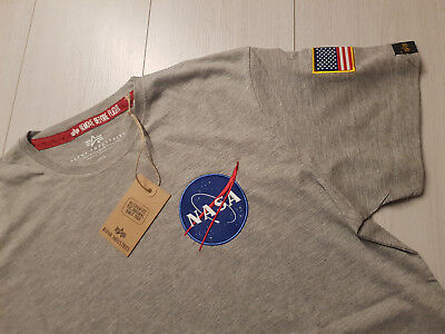 Top Angebot! ++ ALPHA INDUSTRIES *NASA* T-Shirt ++ Size L ++  (Angebote)