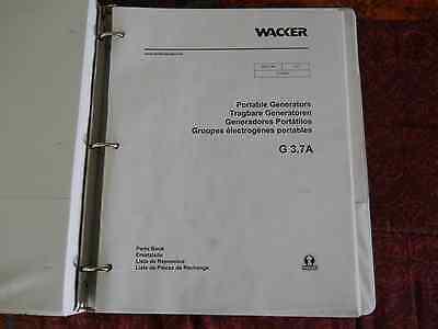 Wacker G 3.7a Portable Generators Parts Manual