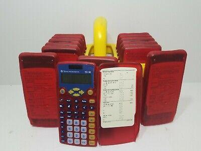TI-10 Set of 14 Texas Instruments Solar Calculators Carrying Case, Classroom -
