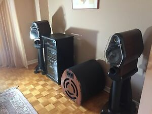 Custom speakers with woofer (with remote)