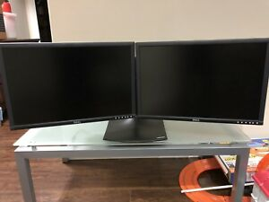 2 x 24 Dual Dell Monitors and stand