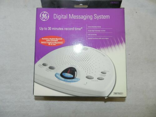 New General Electric 29875GE1 Digital Messaging System Answering Machine