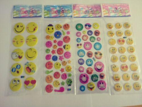 1 Sheet Cartoon Smiling Faces 3D Stickers Girl Boy Kids Crafts Stocking Stuffers