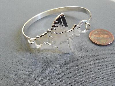 Vintage NOS thunderbird native good quality silver plate hook bracelet DB