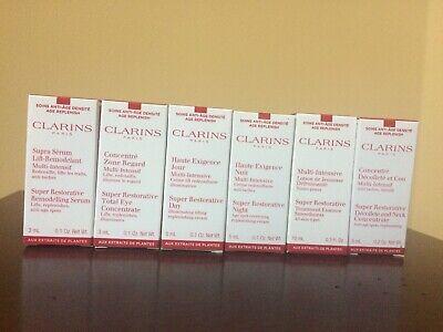 CLARINS Super Restorative Trial Size Set of 6 - New