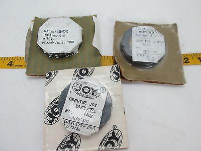 Lot Of 3 Joy Compressor Packing Ring 01607380 Repair Genuine Industrial Nos T