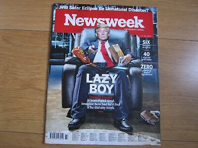 Newsweek Magazine August 2017 Donald Trump New.
