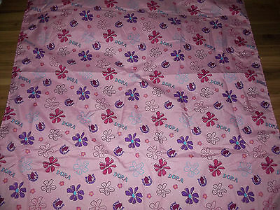 - Nice Good Used Polyester Dora The Explorer Toddler Bed Top Sheet