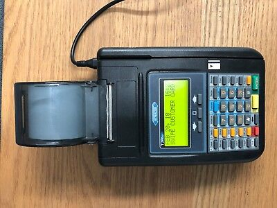 Hypercom T7plus Credit Card Terminal Reader With Power Adapter
