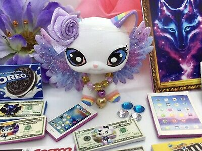 Littlest Pet Shop Custom rainbow Galaxy Wings & Accessories LPS PET NOT INCLUDED