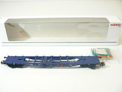 Märklin H0 Aus 47093, 1 Klv-tragwagen, Blau, Neu, Ovp
