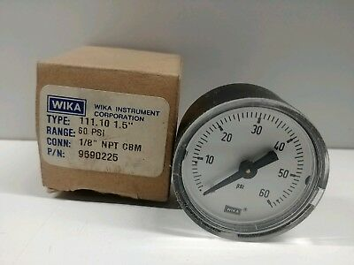 New Old Stock Wika 0-60 Psi 18 Npt Pressure Gauge 9690225