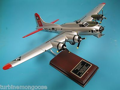 B-17G Aluminum Overcast WWII Bomber Aircraft USAAC Airplane Display Model