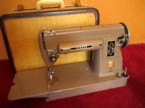 Vtg Singer 301A Sewing Machine Long Bed Hvy Duty Gear Drive Works Perfect