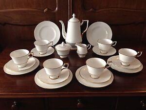 royal tuscan england fine bone china 21 teiliges kaffeeservice f r 6 personen ebay. Black Bedroom Furniture Sets. Home Design Ideas