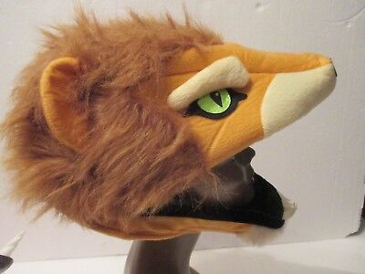 Adult Hyde & Eek! Boutique Lion Head Halloween Costume Mask Hat One Size NEW (Lion Adult Costume)
