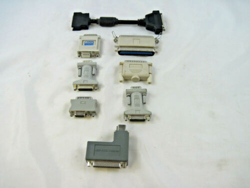 Lot of 8 Assorted Used Computer Adapters HDI-SCSI, VGA, D15