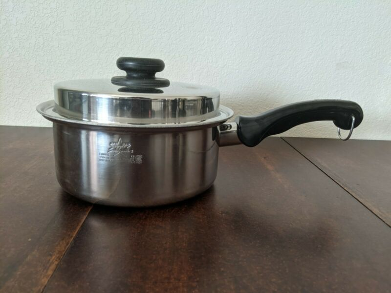 Saladmaster TP304-316 System 7 Surgical Stainless Steel 3 Qt Quart Saucepan Lid