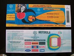 1999 European champions league Cup Final Ticket Manchester Utd v Bayern Munich