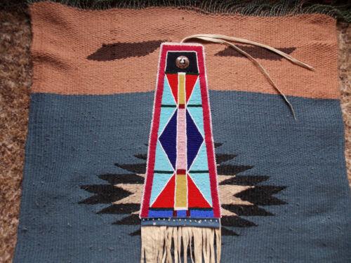 CROW BEADED TOMAHAWK DROP - Beadwork/Quillwork, Reproduction