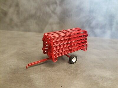 1/64 Custom scratch built curral panels with trailer Farm gates red for sale  Rice