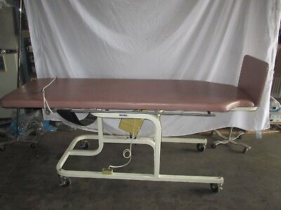 Midland 2195 Medical Adjustable Electric Exam Tilt Table Unit Pink