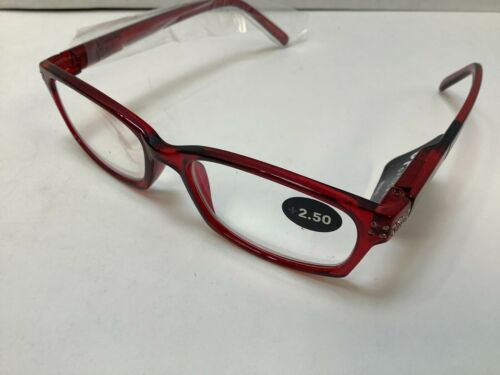 Optimum Optical Moxie Red Candy Apple Frame Reading Glasses with soft-shell case