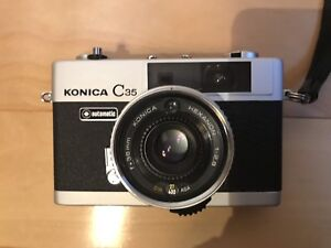 1968 Silver Konica C35 with case