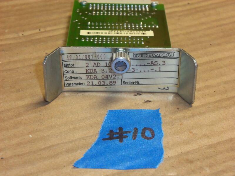 INDRAMAT AS31/007-000 POWER SUPPLY SERVO CONTROLLER MODULE SOFTWARE #10