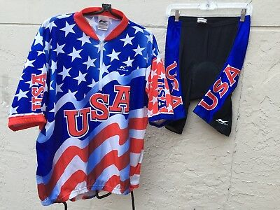 KUCHARIK BICYCLE CYCLING PRO TEAM USA JERSEY   PADDED SHORTS SZ 5XL 12ba1bf7d