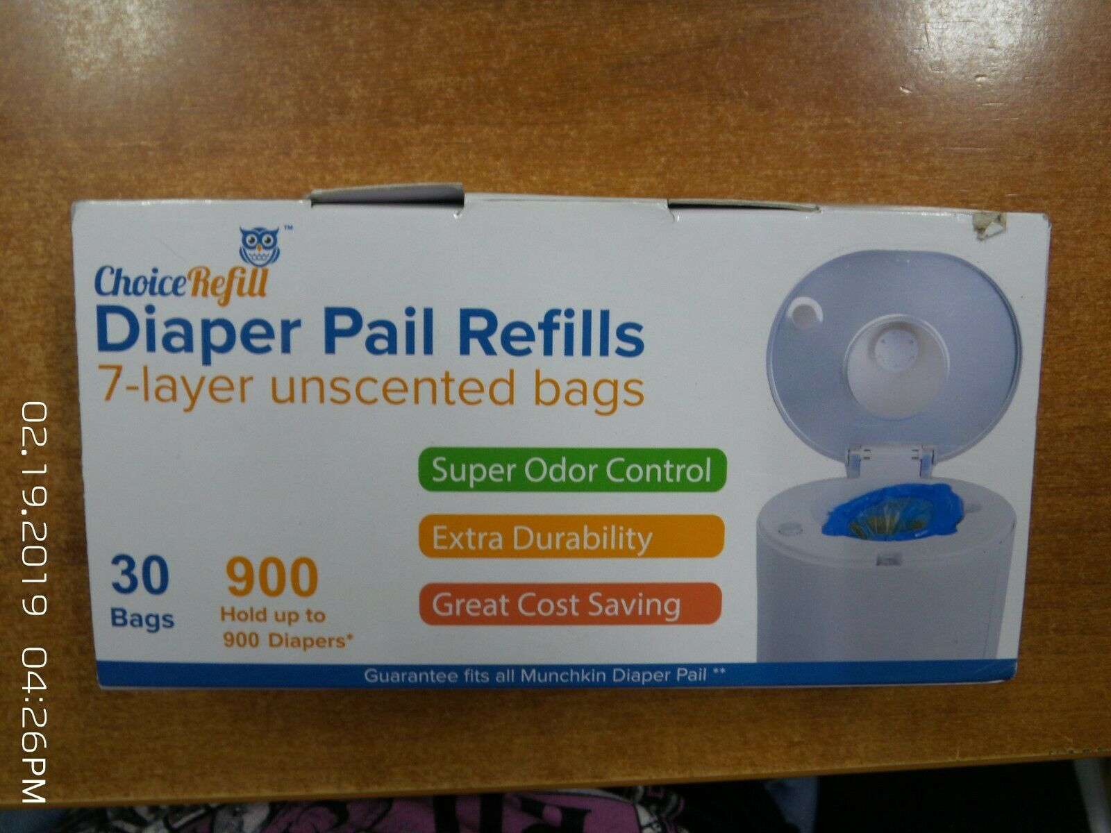 Choice Refill Diaper Pail Refills 7-Layer Unscented Bags