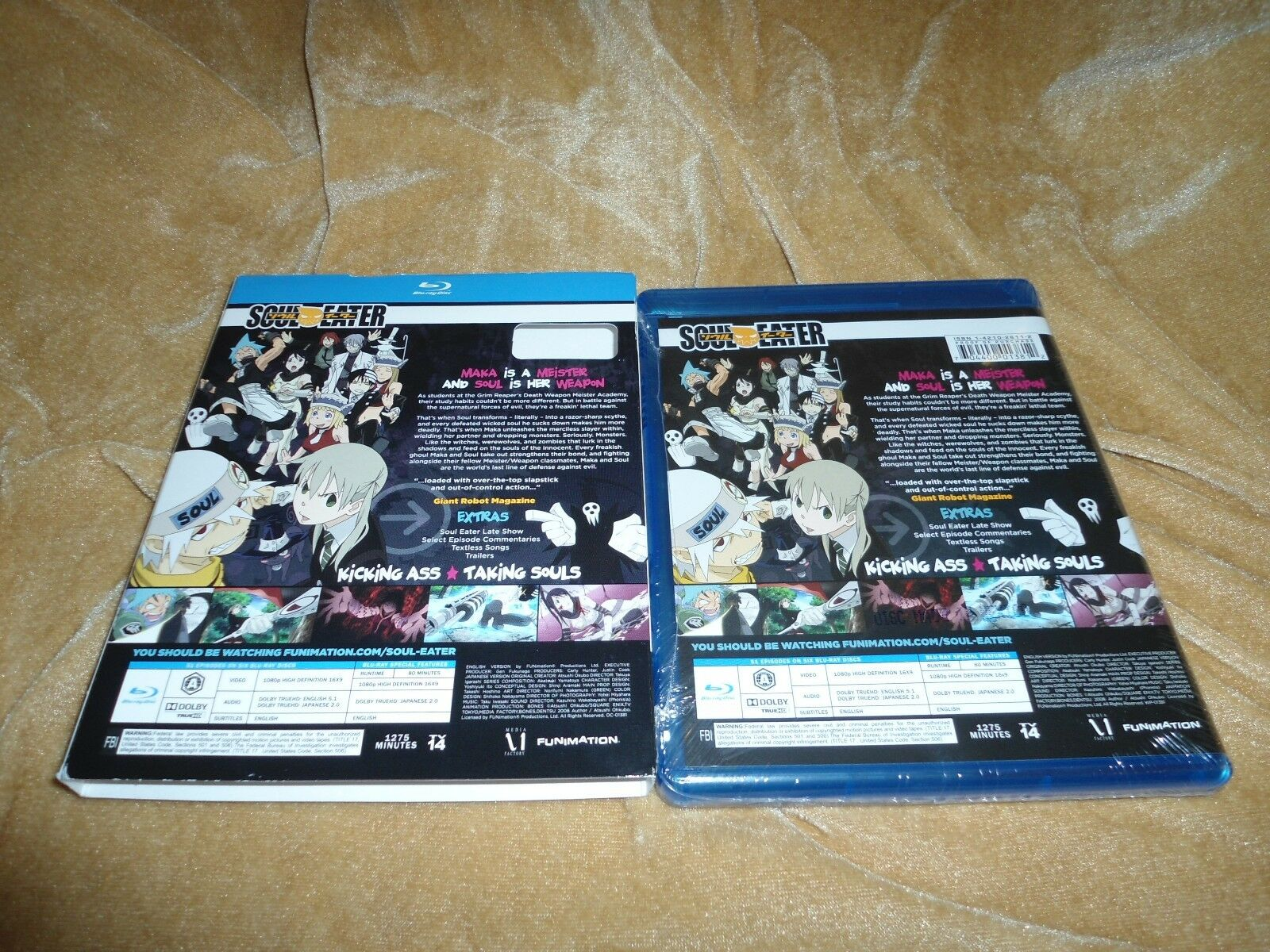 Soul Eater - Complete Series 2008-2009 6 Discs Blu-ray WITH SLIP CASE BOX - $61.99